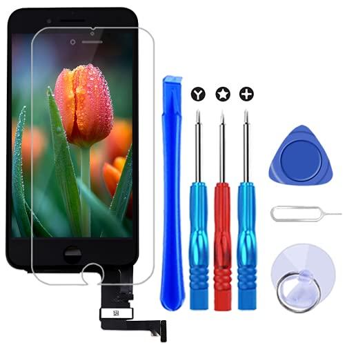 Brinonac Display per iPhone 7 Plus Schermo Nero 5,5 Pollici LCD Touch Screen Frame Vetro Schermo Kit Smontaggio Trasformazione Completo di Ricambio Utensili Inclusi