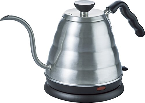 Hario Gooseneck Coffee Kettle 'Buono', Electric, 800ml, Stainless Steel, Silver