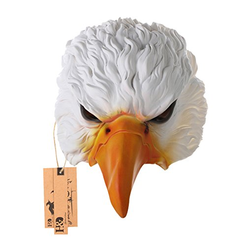 Half Face Masks,Eagle Animal Latex Costume Mask for Halloween Masquerade Cosplay Fun Party