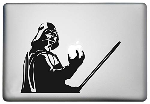 Star Wars Darth Vader MacBook Decal - Sticker Holding Lightsaber for 13 inch Apple MacBooks Air Pro Retina or Other Laptops Black