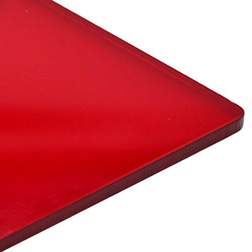 3mm Plexiglas, Rubinrot, transparent, glänzend, gegossene Acrylgasplatte, 16Größen zur Auswahl, rot, 420mm x 297mm / A3