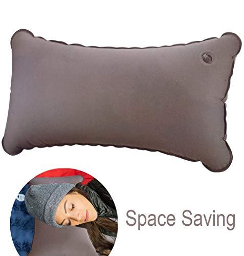 Schone Products (UK) Comodo supporto da viaggio – Cuscino gonfiabile salvaspazio, sgonfiato a portafoglio, 70 g