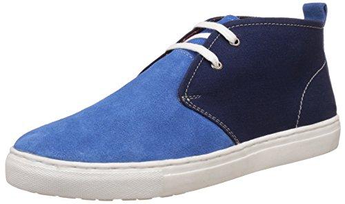 BATA Men's Stefan Blue Leather Sneeker- 8 UK/India (42 EU)(8249706)