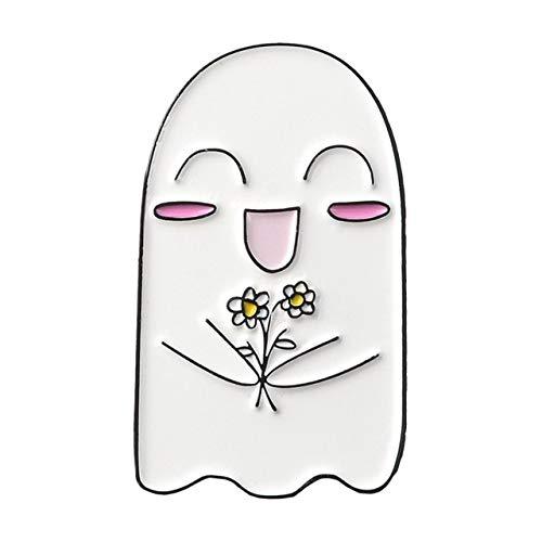 Fantasma Escape Esmalte Pin Insignia Personalizado Paraguas Café Overthink Broches Solapa Jeans Camisa Bolsa Oscuro Regalo De La Joyería De Halloween