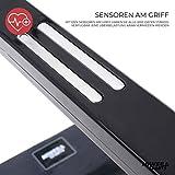 Miweba Sports elektrisches Laufband HT500 – Klappbar – 0,75 Ps – 14 Km/h – 12 Laufprogramme – Tablet Halterung – Große Lauffläche - 7