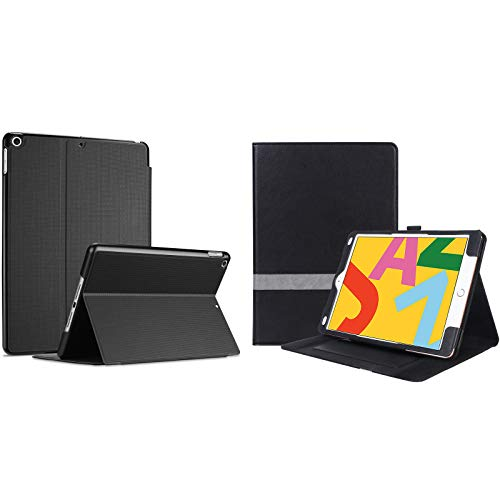 ProCase iPad 10.2 Case 2020 iPad 8th Generation / 2019 iPad 7th Generation Case Bundle with Leather Stand Folio Cover Case with Multi-Angle Viewing and Pencil Holder for 10.2