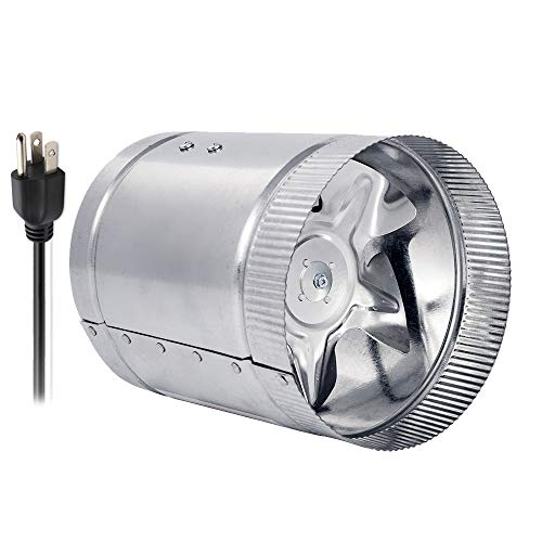 HG POWER 4 inch 100CFM Air Duct Fan Low Noise Inline Booster Fan for Kitchen and Bathroom