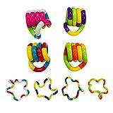 4 unids Fidget Toys, Twisted Circle Windering Toy Twisted Toy Toy Creations Magic Sensory Juguetes para niños, Terapia de Alivio del estrés Toys Tangle Fidget Vent Vent Toys para Adultos