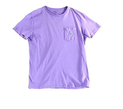 Photo of Polo Ralph Lauren Mens Custom Fit Heathered T-Shirt –  Purple –  XXL