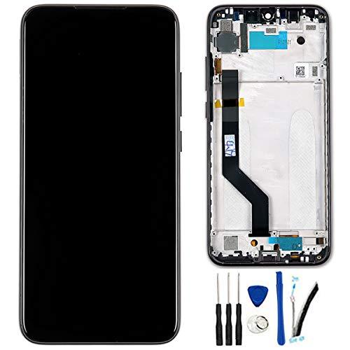 SOMEFUN Pantalla LCD Repuestos Compatible con Xiaomi Redmi Note 7 / Redmi Note7 Pro Global Version 6.3' LCD Pantalla Táctil Digitalizador Asamblea de Vidrio (Negro con Marco)