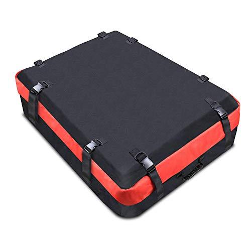 JFZS Cofre Techo Coche Automóvil Caja De Almacenamiento De Equipaje Impermeable En La Azotea Suave para Cualquier Automóvil con Portaequipajes/Rieles/Barras