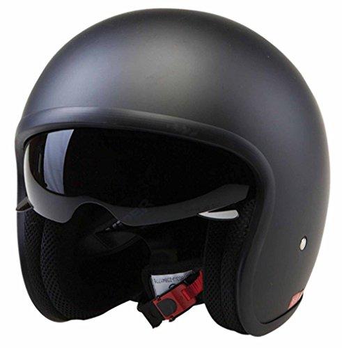 ece22.05 zugelassen Viper Motorrad Motorrad Tempo Touring Reisende Helm Jethelm Jet - MATTSCHWARZ - Matt Schwarz, Small - 56cm