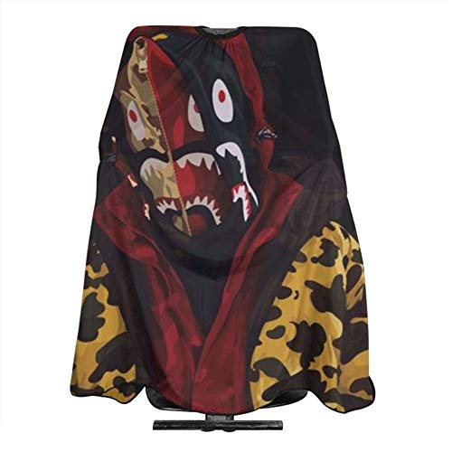 Barber Cape Ba-pe Camo Shark Waterproof Hair Cutting Cape Professional Salon Hairdressing Apron With Snap Closure For Women Men Adult