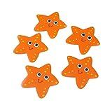 OUNONA 5X Vasca da Bagno Antiscivolo pedane di Sicurezza Adesivo Bagno Applique Decal (Arancione)