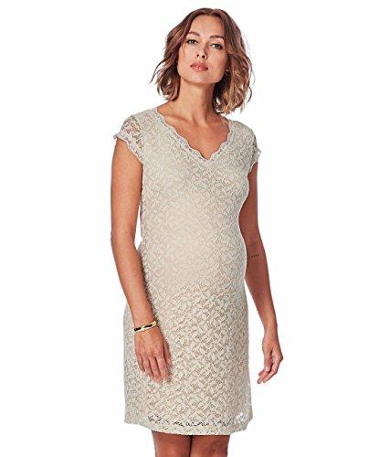 Queen Mum Umstandskleider Kleid mit Overlay aus Spitze 81167-S/Set Gratis Baby-Tuch