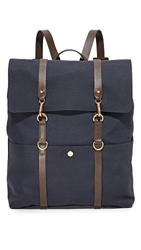 Mismo Men's M/S Backpack, Navy/Dark Brown, One Size