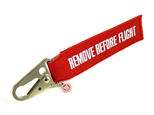 Schlüsselanhänger - Remove Before Flight - Flugzeug-Karabiner
