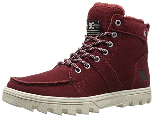 DC mens Woodland snow boots, Syrah, 6.5 US