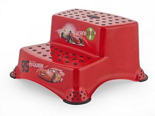 Lulabi - Sgabello Disney Cars, Step 2 Gradini, Rosso