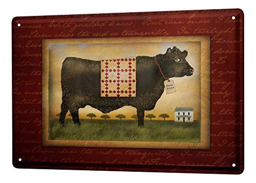 LEotiE SINCE 2004 Cartel Letrero de Chapa XXL Infantil Prado Vaca Casa