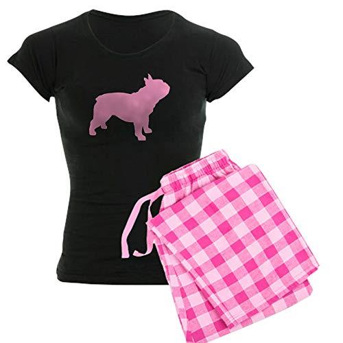 CafePress Pink French Bulldog Pajamas Womens Novelty Cotton Pajama Set, Comfortable PJ Sleepwear