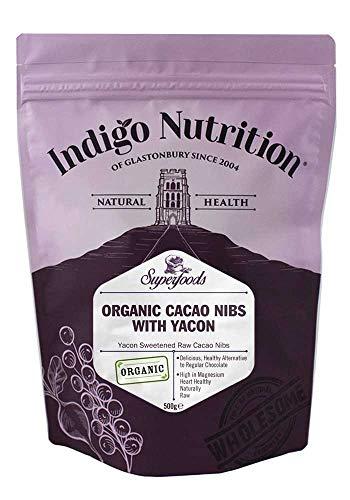 Indigo Herbs Bio Kakaonibs mit Yaconsirup 500g