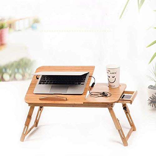 MultiWare Mutiwill Adjustable Laptop Desk Folding Laptop Table Bamboo Portable PC Desktop Notebook Stand Sofa Desk