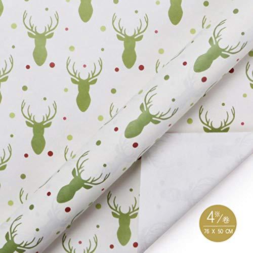 Miner 10 stks lot 52 * 75 cm wereldkaart kraftpapier inpakpapier wrap gift verpakking enkelzijdige kerstfeest decor woondecoratie, N5