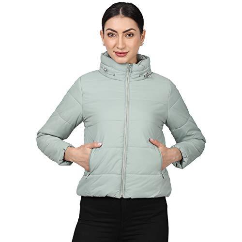 Monte Carlo Women's Regular Fit Warm Up Jacket (220049982-1_SEA Green_36)