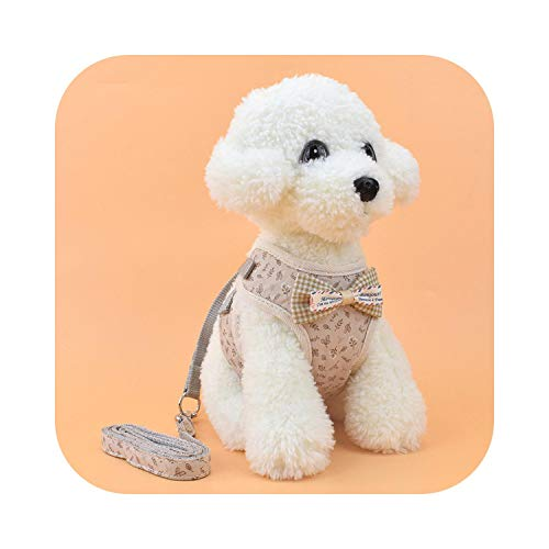 Almighty-shop Dog Chest Strap cat Leash pet Vest Type Leash Small Dog pet Chest Strap Harness-Pink Flower-S