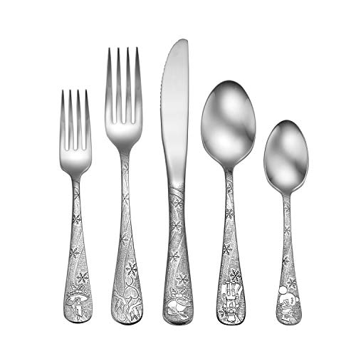 Liberty Tabletop Holidays 45pc Flatware Set Service For 8 Serving Set Included MADE IN USA