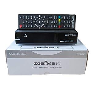 immagine di Decoder Zgemma H5 Combo HD per la TV SAT, Digitale Terrestre e IPTV, compatibile HEVC H265, con tuner DVB-T2 e DVB-S2 OS Linux Enigma 2 OpenATV