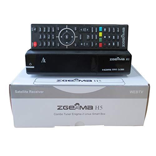 ZGEMMA H5 Digital Receptor De TV & Combo Box Para Satélite y Cable , Compatible con HEVC H265, con Sintonizadores DVB-T2/C y DVB-S2