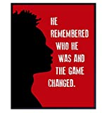 African American Motivational Wall Art - Black Wall Art - Afro American Inspirational Quotes Wall Decor - Gift for Black Men, Boys Room, Teens Bedroom - 8x10 Black Power Poster