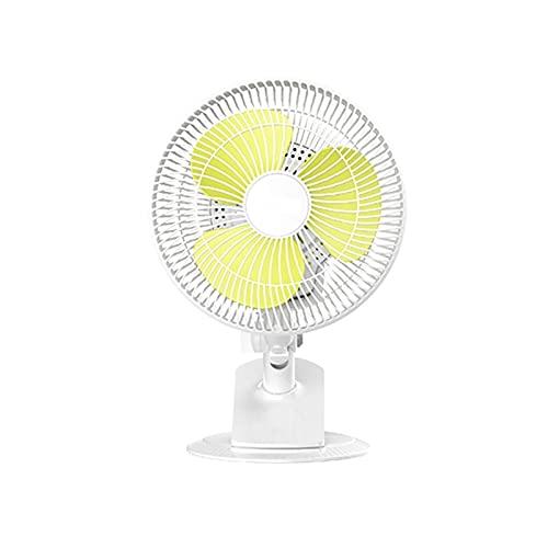 JIEPPTO 1 Unids Mini Ventilador, Ventilador De Clip Portátil Silencioso, Dos Velocidades, Suministro De Aire De Gran Angular, Cabeza Y Mango Integrado, Dormitorio Estudiantil