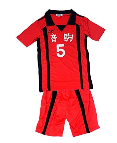 Agaruu Haikyuu Kostüm für Cosplay, Kenma-Uniform, Nekoma-Team-Stil, Ball-Kostüm Gr. Small, rot