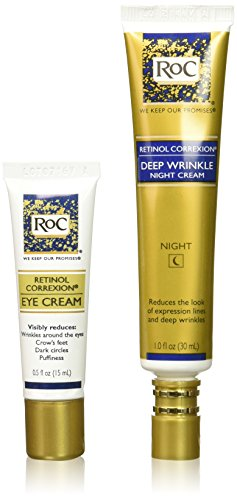 Roc Retinol Value Set Duo, Deep Wrinkle Night Face Cream & Retinol Correxion Eye Cream