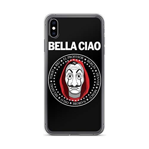Funda para iPhone 7 Plus/8 Plus, antiarañazos, serie Bella Ciao, transparente