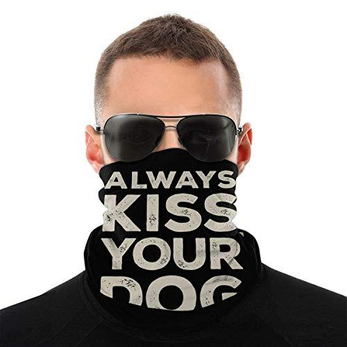 OMarcus Ksis Dog Unisex Gesicht Bandana Abdeckung, Kopftuch Hals Gamasche Rohr Schals Sturmhaube mit 6 Filtern