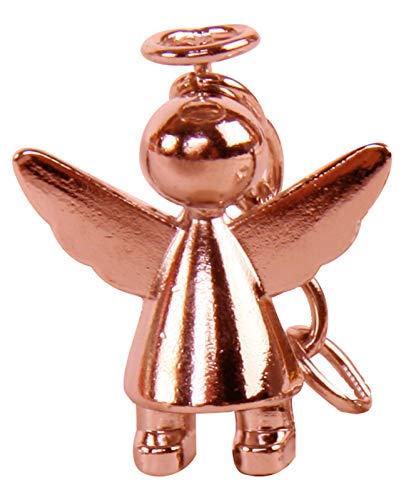 Schlüsselanhänger Schutzengel aus Edelstahl Rosé Gold glänzend hochwertig- ideales Geschenk zur bestandenen Führerscheinprüfung