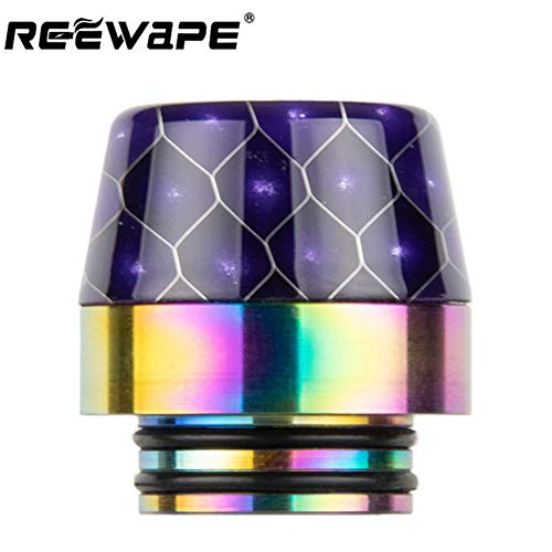 Fuguan Drip Tip, Standard Stainless Steel and Resin Drip Tip Connector for Ice Maker Mod(810 Purple 1)