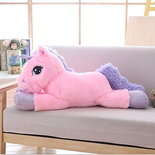 CGDX 80 cm / 100 cm Unicornio Blanco Peluches Unicornio Gigante Animal de Peluche Caballo Juguete Suave Unicornio Muñeca Regalo Niños Photo Props 80cm Rosa
