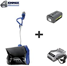 Snow Joe iON13SS 40-Volt iONMAX Cordless Brushless Snow Shovel Kit | 13-Inch | W/ 4.0-Ah Battery and Charger