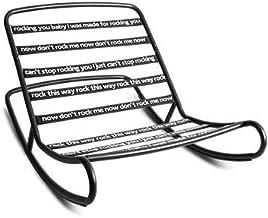 Fatboy Rock n Roll | Gigantische Moderne Schommelstoel | Zwarte Schommelstoel Met Demontabel Frame | Zwart | 126 x 87 x 71...