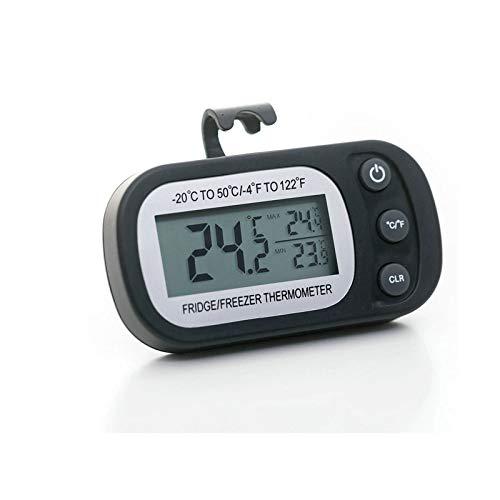 Termómetro para Frigorífico, Termómetro de Frigorífico Congelador Impermeable con Gancho, Digital Nevera Refrigerador Congelador, Thlevel Mini Termómetro Digital LCD para Refrigerador, Congelador