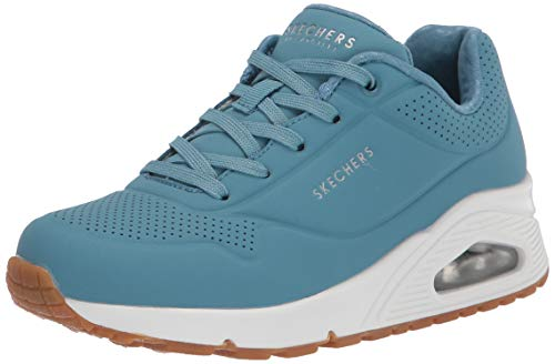 Skechers - Uno-Stand on Air - Zapatillas deportivas para mujer, Azul (Pizarra), 38 EU