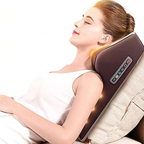 JJDD\'G Massagekissen Shiatsu Massagegeräte für Nacken Schulter Rücken, Vibration und Heizfunktion, 3-Ebene Leistungseinstellung, 16 3D-rotierenden Massageköpfen