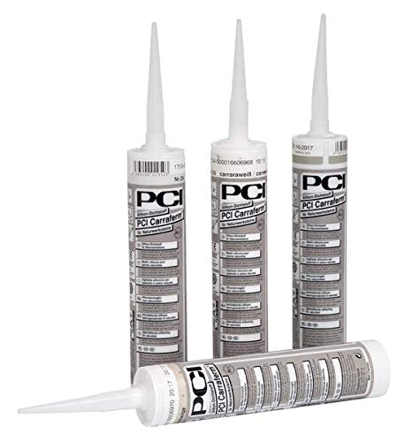PCI Carraferm Silikon-Dichtstoff 12 x 310 ml - 25 Carraraweiß - Für den gesamten Wohnbereich