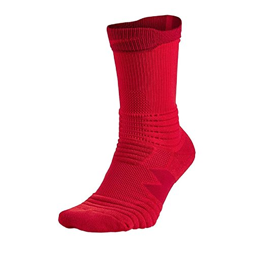 Nike Elite Versatility Crew Basketball Socks-Red-Small