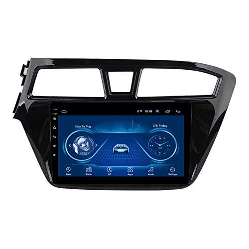 Car stereo Android 9.1 Cuatro núcleos Coche Autoradio GPS Navegación para Hyundai I20 2015 -2018 | 9 pulgada | Pantalla LCD Táctil | USB | WLAN | 4.0 Bluetooth (Color:Cuatro nucleos,Size:WIFI